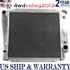 3 ROW CORE ALUMINUM RADIATOR FOR 66 77 FORD BRONCO WAGON ROADSTER 50L 302 V8