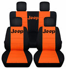 Cc Fit Jeep Wrangler 2 Or 4 Door 2007-17 Paw Prints Frontback Car Seat Covers