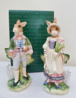 FITZ AND FLOYD CLASSICS OLD WORLD RABBITS W/BOX SALT & PEPPER SET