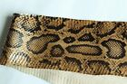 real Cobra SNAKESKIN SNAKE SKIN HIDE tanned leather Burmese Python Print WarmTan