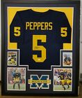 JABRILL PEPPERS MICHIGAN WOLVERINES AUTOGRAPHED FRAMED JERSEY JSA COA