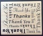 Rubber Stamp Thank You Thanks Card Making Crafts