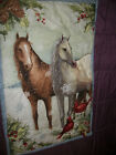 Winter Still~~Susan Winget~~Horses --Holiday Panel Completed Quilt  23 X 36