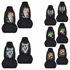 cc front set car seat covers cobra tiger wolf skull fits wrangler YJ TJ LJ
