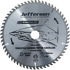 "Jefferson 10"" 250mm 60 Teeth TCT Table Mitre Saw Blade"