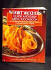 WEIGHT WATCHERS QUICK AND EASY MENU COOKBOOK 1989 SOFT COVER