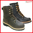 LM Mens Work Boots Rugged Pioneer Logger Boot Steel Toe Good Year Welt 5001ST