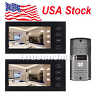 7Color LCD Touch Key Wired Video Door Phone Doorbell Intercom System Ir Camera