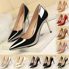Fashion Office Lady PU Shallow Pointed Toe High Heels Shoes Women Stiletto Pumps
