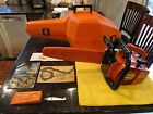 STIHL 015 L CHAINSAW US MADE INCLUDES CASE (2) MANUALS, TOOL, WEDGE GREAT COND.