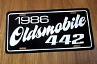 1986 Oldsmobile 442 license plate tag 86 Olds W42 307 RWD Muscle Car 4 4 2