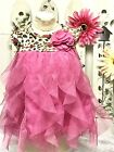 Made With Love Baby Girl 0 3 Mo Dress Magenta Layers Easter Pageant Photo Shoot