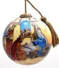 0075 Holy Nativity 3 Kings Epiphany Hand Painted Inside Glass Christmas Ornament