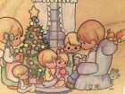 Precious Moments Rubber Stamp Family Christmas Large Stampendous Ur001 Made USA