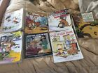 Calvin and Hobbes Bill Watterson Comic Books Strips Cartoons Lot of 7 Collection
