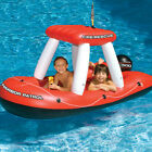 Swimline 75 Fire Boat Squirter Swimming Pool Inflatable Float