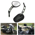 Edge Cut Rear View Mirrors for Dyna Softail Touring Road King XL1200L 883 Black