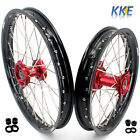 19/ 16 KID'S BIG WHEEL FIT HONDA CRF150R 2007-2018 RIM SET CNC RED HUB BLACK RIM