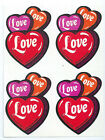 Vintage 80s Scratch N Sniff MELLO SMELLOS Love Hearts Full Page 4 Stickers