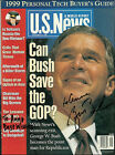 GEORGE W. BUSH - INSCRIBED MAGAZINE COVER SIGNED