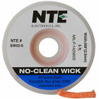 5FT No Clean Desoldering Wick Braid 4 Blue 0098 x 5 ft  Free Shipping
