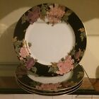 4 dinner plates in the Cloisonne Peony pattern by Fitz and Floyd 1979 MCMLXXIX