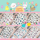 Happy Easter Nail Sticker Self adhesive Glitter Spring Bunny Egg Rabbit Bird