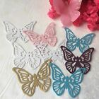 12 Pearlescent Finish Paper Butterflies CUT OUTS EMBELLISHMENTS
