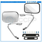 Manual Stainless Steel Door Side View Mirrors for Ford Series Truck Pickup Pair