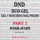 DND DAISY DUO GEL W MATCHING LACQUER NAIL POLISH SET CHOOSE COLOR PART 2