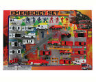 Mozlly Diecast Police and Rescue Emergency Crew With Play Mat 46 Pcs Toy Playse