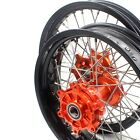 CUSH DRIVE SUPERMOTO WHEELS RIM SET FOR KTM 990 KTM950 2.5*19/4.25*17 ORANGE