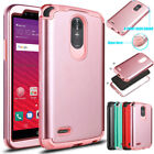 Heavy Duty Hybrid Rubber Shockproof Bumper Protective Case Cover For LG Stylo 3