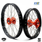 KTM85 SX 2003-2019 RIM WHEEL 19/16 BIG WHEELS FIT OEM SIZE  ORANGE CNC HUB SET