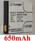 Battery 650mAh type 252917966 For SAGEM MY401L