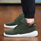 Fashion Korean Mens Casual High Top Sneakers Loafers Boat Flats Boots Shoes OG38