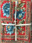 April Cornell Red And Blue Floral French Provencal Tablecloth 60