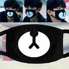 Black EXO Cotton Mouth Face Mask Respirator for Cycling Anti Dust Cute Bear