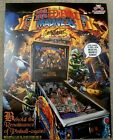 Autographed - Medieval Madness Remake Pinball Flyer Brochure! Williams Pinball!