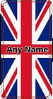 PERSONALISED UNION JACK iPHONE 4s 5s 6s 6s+ 7s 7s+ PU LEATHER FLIP CASE