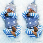 Newborn Baby Boys Girls Star Striped Tops T shirt Pants Outfits Clothes US Stock
