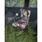 Hunting Chair 360 Swivel Hunters Camo Seat Ground Blind Tree Stand Seat Backrest