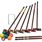 Croquet Game Set Vintage Outdoor Lawn Yard For Adults Kids Family Backyard