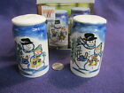Tabletops Unlimited Winterland Christmas Salt and Pepper Shakers Ceramic      84