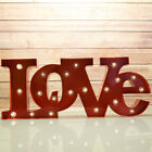 Marquee Light Red LOVE Word LED Metal Sign Battery Operated
