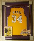 Shaquille O'Neal Signed Los Angeles Lakers Framed Jersey. JSA COA