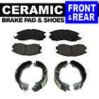 FRONT + REAR Ceramic Brake Pads + Shoes 2 Sets Geo Prizm Toyota Corolla