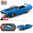 AUTOWORLD AMM1012 118 1971 PLYMOUTH ROADRUNNER PETTY BLUE DIECAST MODEL
