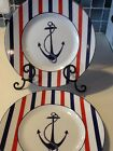 222Fifth Anchor Here Set Of 4 New Salad Plates