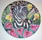 FITZ & FLOYD  Exotic Jungle ZEBRA Luncheon/Collector/Salad Plate